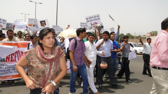 Our protest at NCRPB Office dated 8.6.2012